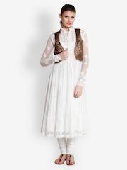 Indi Dori Women Black & Golden Waistcoat