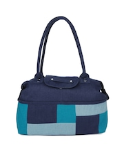Indian Rain Navy Davon Jute Handbag