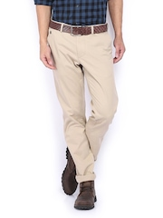 Indian Terrain Men Beige Brooklyn Slim Fit Chino Trousers