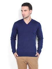 Indian Terrain Men Blue Sweater