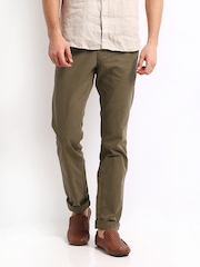 Indian Terrain Men Brown Brooklyn Fit Chino Trousers
