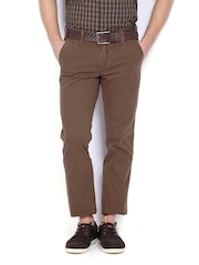 Indian Terrain Men Brown Brooklyn Slim Fit Trousers