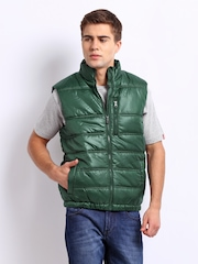 Indian Terrain Men Green Padded Jacket