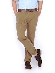 Indian Terrain Men Khaki Brooklyn Slim Fit Chino Trousers