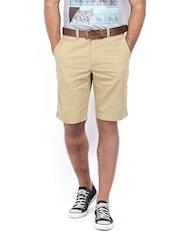 Indian Terrain Men Light Khaki Shorts