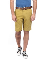 Indian Terrain Men Mustard Yellow Shorts