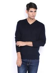 Indian Terrain Men Navy Sweater