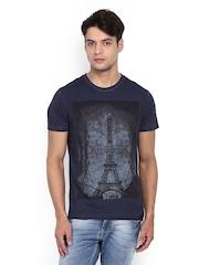 Indian Terrain Men Navy Printed T-shirt