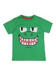 Inmark Boys Green Printed T-shirt