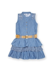 Inmark Girls Blue Fit & Flare Dress