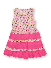 Inmark Girls Pink Printed Dress