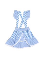 Inmark Girls Blue & White Striped Skirt with Suspenders