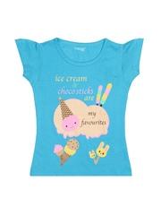 Inmark Girls Blue Printed T-shirt