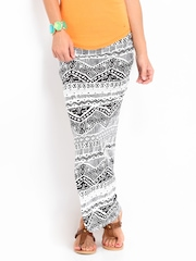 Inmark White & Black Printed Maxi Skirt