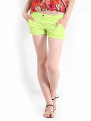 Inmark Women Fluorescent Green Shorts