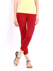 Inmark Women Red Capri Leggings