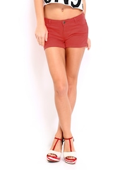 Inmark Women Coral Red Shorts