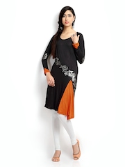 Ira Soleil Women Black Printed Tunic