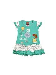 Isabelle Girls Green Printed Dress