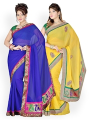 Ishin Set of 2 Printed Georgette Sarees