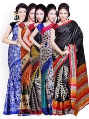 Ishin Set of 5 Art Silk Traditional Sarees