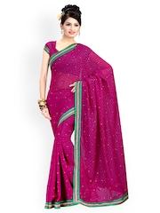 Ishin Magenta Chiffon Fashion Saree