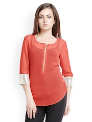 Iti Women Coral Pink Top