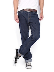 Jack & Jones Men Blue Clark Regular Fit Jeans
