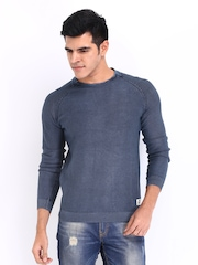 Jack & Jones Men Blue Sweater