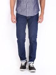 Jack & Jones Men Blue Tim Slim Fit Jeans