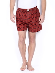 Jack & Jones Men Brown Printed Boxers 1538994015