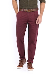 Jack & Jones Men Burgundy Chino Trousers