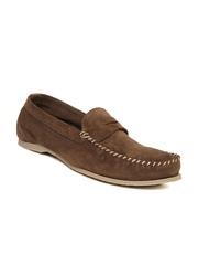 Jack & Jones Premium Men Brown Suede Loafers