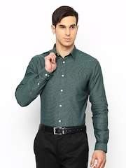 Jack & Jones Men Green Formal Shirt