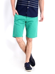 Jack & Jones Men Green Shorts