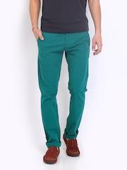 Jack & Jones Men Green Slim Fit Chino Trousers