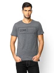 Jack & Jones Men Grey Melange T-shirt