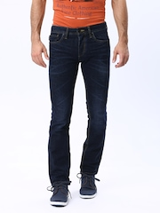 Jack & Jones Men Blue Clark Regular Fit Jeans