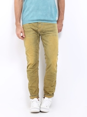 Jack & Jones Men Yellow Erik Anti Fit Jeans