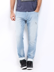 Jack & Jones Men Light Blue Erik Anti Fit Jeans
