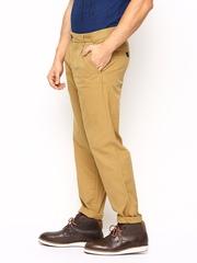 Jack & Jones Men Mustard Brown Comfort Fit Chino Trousers