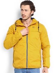 Jack & Jones Men Mustard Yellow Hooded Jacket
