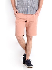 Jack & Jones Men Peach Coloured Shorts