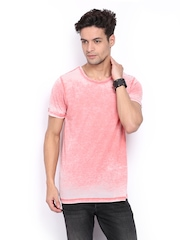 Jack & Jones Men Pink Melange T-shirt