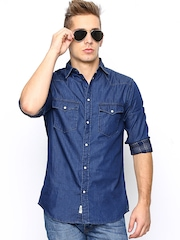 Jack & Jones Men Blue Slim Fit Denim Casual Shirt