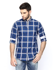 Jack & Jones Men Blue Striped Casual Shirt