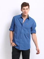 Jack & Jones Men Blue Leo Casual Shirt
