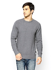 Jack & Jones Men Grey Melange Sweater
