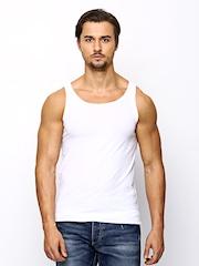 Jack & Jones Men White Innerwear Vest 1685083011