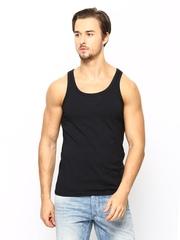 Jack & Jones Men Black Innerwear Vest 1685083006